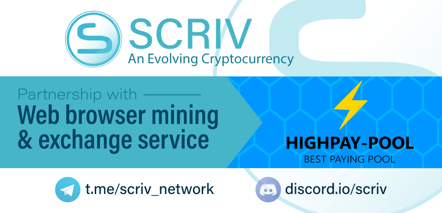 SCRIV listing at HighPay-Pool | The SCRIV Network - The SCRIV Network